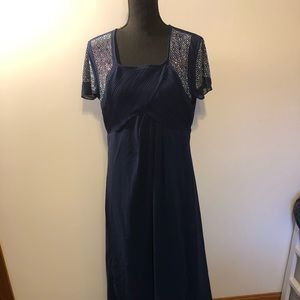 Blue dress with sparkles